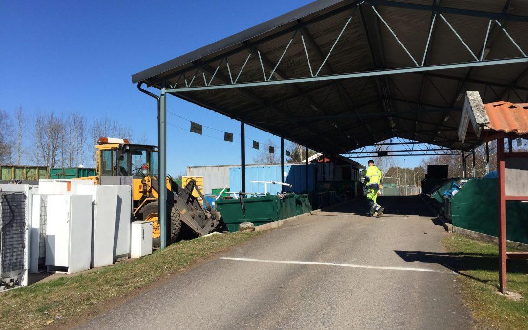 Ombyggnation av återvinningscentralen påbörjas – tillfällig lösning på Lövsta industriområde