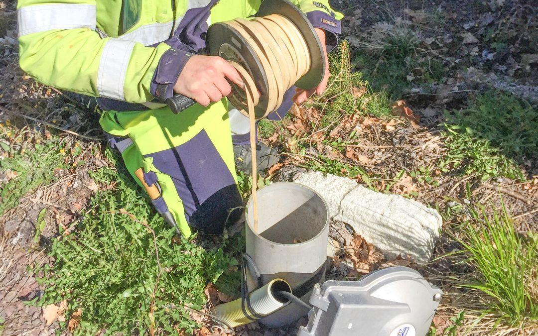 Regelbunden mätning av grundvattennivåer